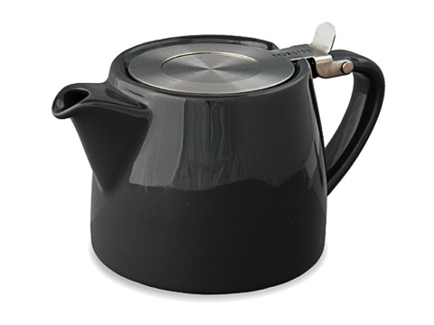 Stump teapot-black graphite