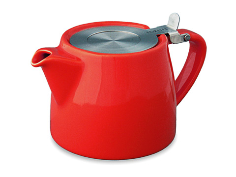 Stump teapot-red