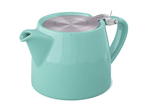 Stump teapot-turquoise
