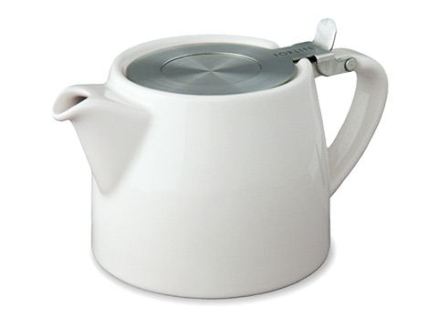 Stump teapot-white