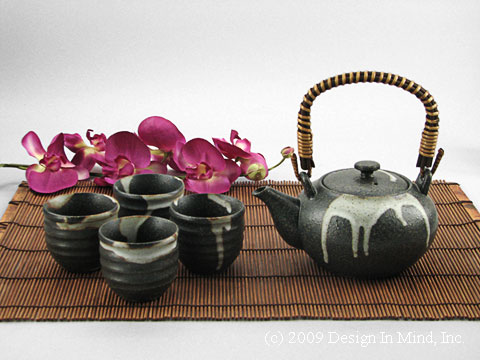 Earth & Clouds Japanese teaset