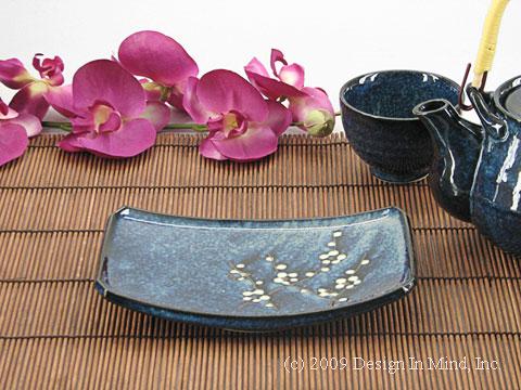 Blue Plum Japanese plate