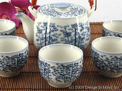 Blue Bamboo Japanese teaset