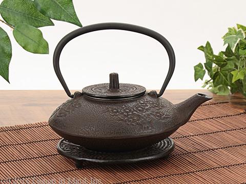 Cast Iron Teapot - Bamboo & Trivet