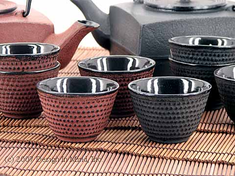 Cast Iron Tea Cups - set of 4