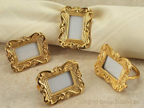 Picture Frame Napkin Rings