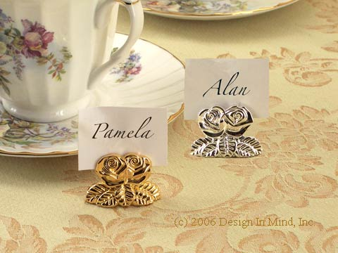 Add the formal touch of placecards to your afternoon tea.