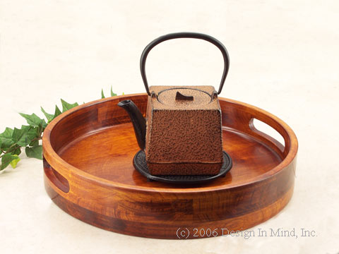 Serving trays are essential for casual tea service.