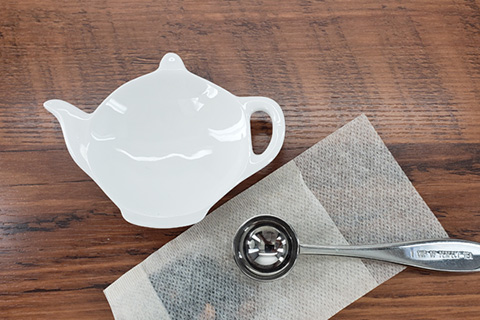 Tea Tidy - White china