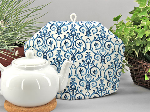 Tea Cozy - Blue Finial