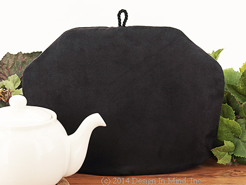 Tea Cozy - Charcoal Suede