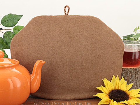 Tea Cozy - Taupe Brown Suede