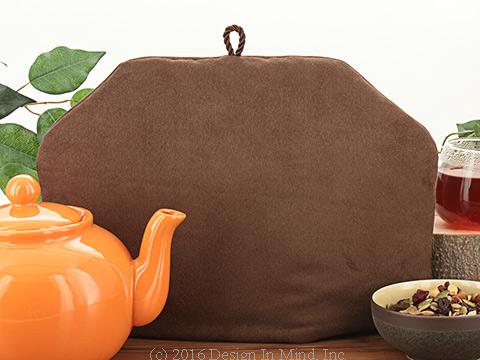 Tea Cozy - Dark Chocolate Suede