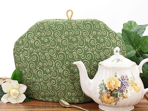 Tea Cozy - Golden Swirls