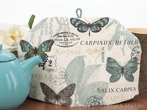Tea Cozy - Mariposa Turquesa