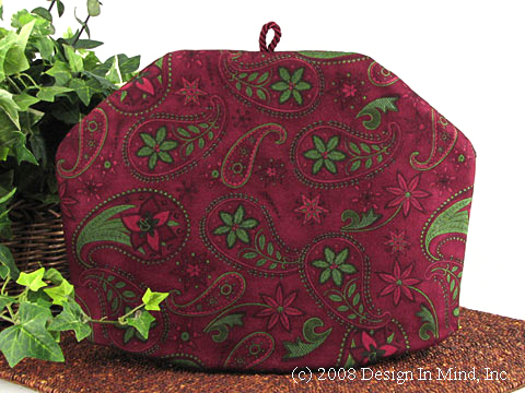 Tea Cozy - Poinsettia Paisley