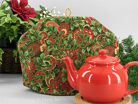 Tea Cozy - Holly Berry Paisley