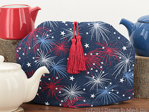 The Tea Quilt&#153; tea cozies keep tea hot and fresh up to 3 hours!<br /> Shown: Grand Finale Tea Cozy from the Holiday Group
