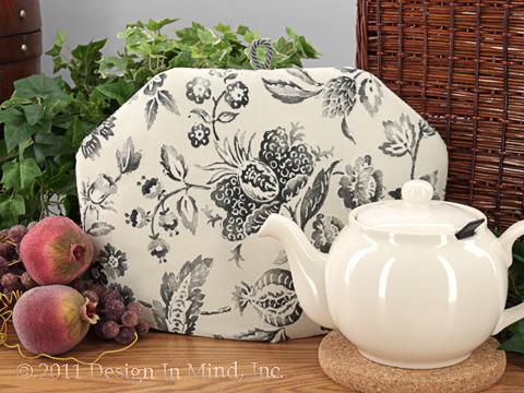 Tea Cozy - Pewter Floral