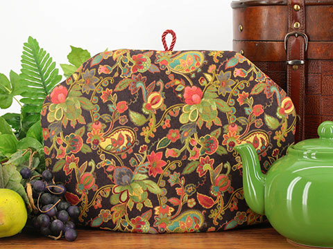 The Tea Quilt&#153; tea cozies keep tea hot and fresh up to 3 hours!<br /> Shown: September from the Flowers Galore group