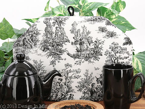 Tea Cozy - Toile Black
