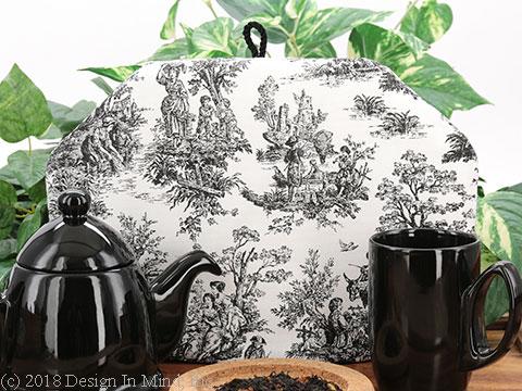 Tea Cozy - Toile Black