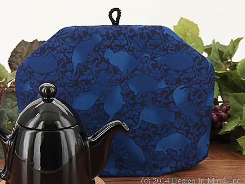 Tea Cozy - Blue Felinity