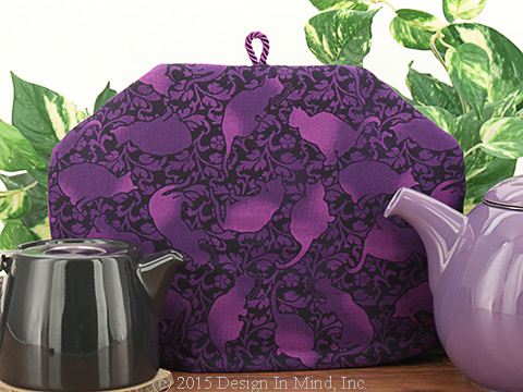 Tea Cozy - Purple Felinity