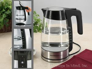 Cordless electric kettles... fast water boiling and contemporary design.