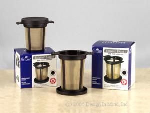 Many choices in stainless steel and cotton reusable  brewers and infusers.