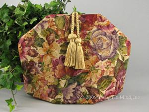 Elegance tea cozies features a range of luxurious fabrics including damask, tapestry, satin, moire and more.