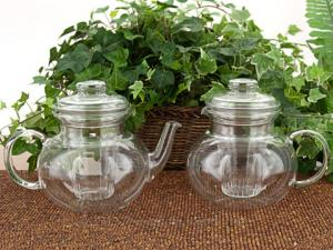 Elegant glass teapots are preferred for herbal infusions.