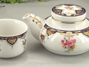 Traditional and modern versions provide relaxing tea service for one.